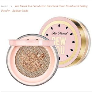 "🌟NIB ~ Too Faced ""Dew You"" Fresh Glow Powder💋"